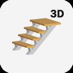 3D Расчет металлической лестницы