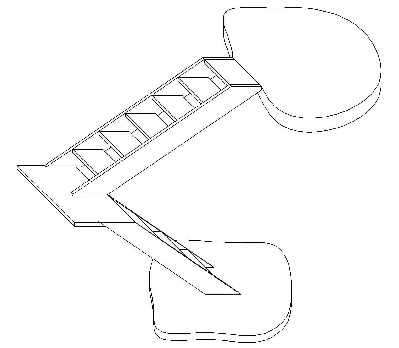 3D U-Shaped staircase calculator: Building materials & half
